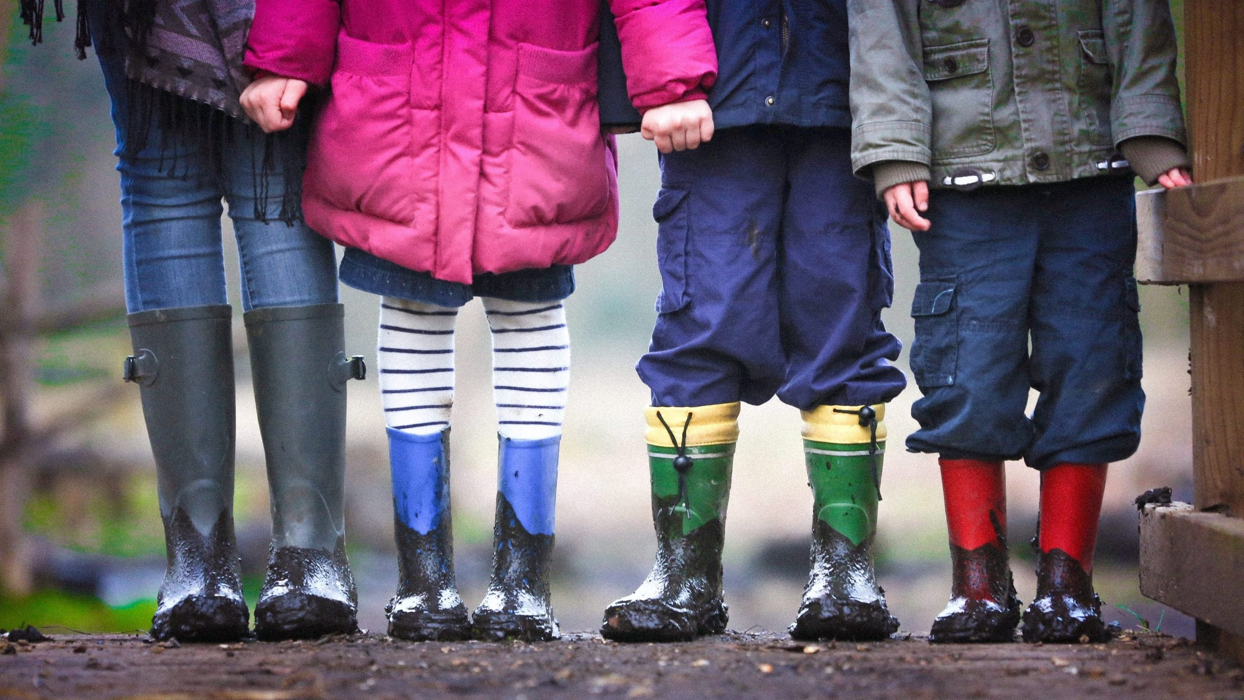 picture of children wearing wellies